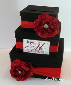 Card Box Wedding Money 3 Tier By DiamondDecor 8900