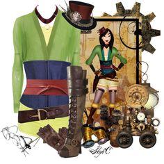 """Mulan - Steampunk - Disney's Mulan"" by rubytyra on Polyvore"