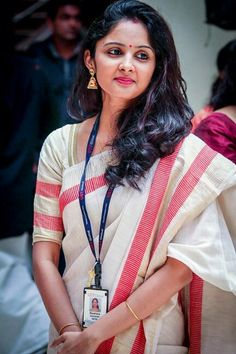 Kerala handloom kasavu saree. Onam traditional saree with designer touch..