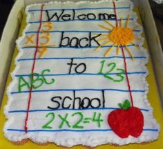 Back To School Cupcake Cake Back To School Cupcake Cake I made this cupcake cake for the teachers at my school. I made marble sour cream cupcakes and strawberry-... #featured-cakes #leannew #cakecentral