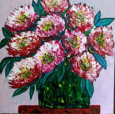 Gorgeous painting of big blooms. Floral painting, abstract flowers, flower painting. Floral abstract. Abstract Flowers, Painting Abstract, Creative Art, Painted Furniture, Christmas Wreaths, Etsy Seller, Floral Wreath, Bloom, Big