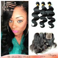 6a malaysian virgin hair with closure 4pcs lot virgin malaysia body wave human hair extension bundle with lace closure body wave $229.40