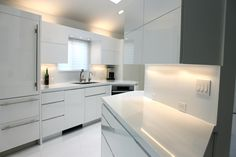 Beautiful Angular Cabinets with LED lighting
