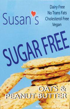 Susan's Sugar Free Vegan Cookies - Peanut Butter