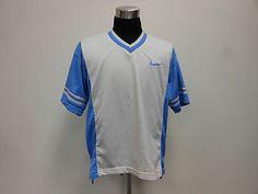Vtg 90s Nike Air V Neck Mesh Warm Up Shirt sz L Large by TCPKickz