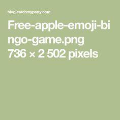 Free-apple-emoji-bingo-game.png 736×2502 pixels