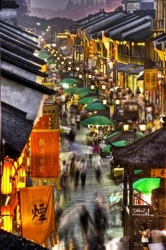 This old town outdoor shopping center is anything but your sleepy old village town. If you find yourself in Hangzhou, this is the perfect spot to pick up a souvenir for both friends and family.