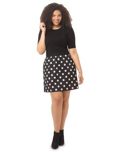 Silvana A-Line Skirt by Corey, Available in sizes 0X-3X