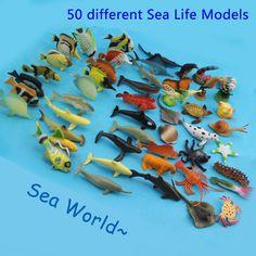 50 ks mořští živočichové Hračky, montessori pomůcky, věci na tvoření z Aliexpressu #hračky #tvoření #děti #rodina #3dmámablog.cz #aliexpress