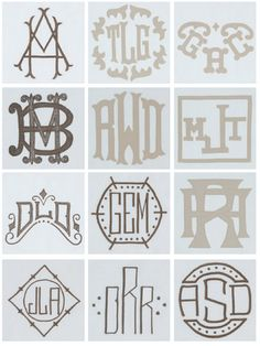 I must confess, I have a thing for monograms... well really any type of personalization. I think real style is as individual as your initials, your signature or your handwriting. Why have what everyone else does when you can do your own thing!
