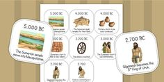 Ancient Sumer Timeline Ordering Activity