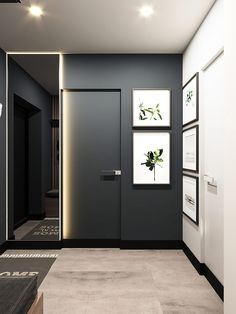 Managing With Less: 3 Small Homes Under 40 Square Meters – Home office design layout Small Space Interior Design, Home Room Design, Office Interior Design, House Design, Design De Configuration, Layout Design, Black And White Cushions, Modern Home Office Desk, Bedroom Decor For Small Rooms