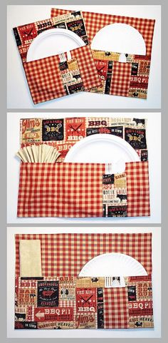 Outdoor Place Mats Summertime Barbecue Placemat Set with