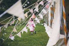 Bunting and guide ropes.  Falconhurst Estate, Kent for the wedding of Pinar & Richard. Albert Palmer Photography