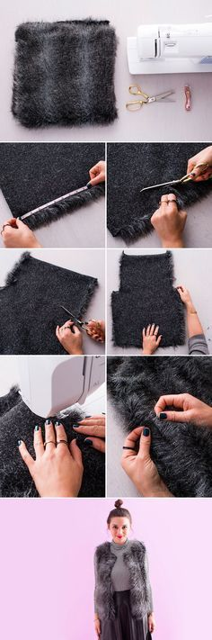 Follow this tutorial to make a super chic faux fur vest.