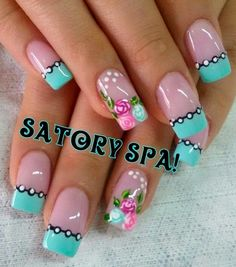 Having short nails is extremely practical. The problem is so many nail art and manicure designs that you'll find online Cute Nail Art, Beautiful Nail Art, Cute Nails, Pretty Nails, My Nails, Fabulous Nails, Gorgeous Nails, Perfect Nails, Fingernail Designs