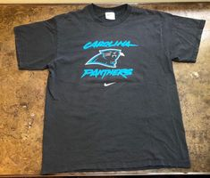 db15fd9c6 Nike Carolina Panthers Tshirt Vtg 90s NFL Team Pro Line Football Shirt Large   Nike