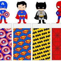 Superheroes Free Printable Original Nuggets Wrappers.