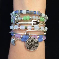 Alex and Ani stacked bangles!