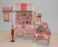 Dollhouse-Miniature-Candy-Cart-with-accessories-1-12-One-Inch-Scale