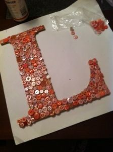 DIY button letter