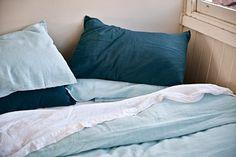 Image of 100% Linen Doona Cover Light Blue