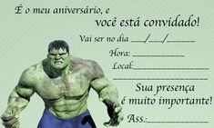 de imagem para frases de de aniversario do hulk Party Themes, 30, Moana, Gabriel, Incredible Hulk Party, Hulk Party, Invitation Birthday, Hulk Birthday, Cards