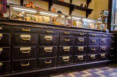 decoración vintage de tiendas