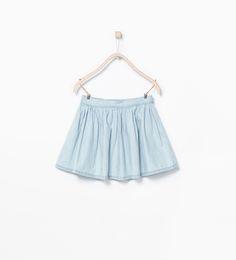 Flounce denim skirt - Skirts & Shorts - Girl (3 - 14 years) - KIDS | ZARA United Kingdom