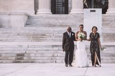 Bride walking down the Aisle with Both Parents | Modern Museum of Art Wedding | Z Media | Chris & Julie First | Shi Shi Events | Bridal Musings Wedding Blog 24