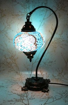 Multicolour Turkish Moroccan Style Mosaic Table Lamp Lampshade Large Globe  Shade | Mosaics