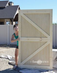 31 Ideas and Free Plans On How To Build A Shed Door DIY british brace barn door Diy Exterior Barn Door, Barn Door Garage, Farm Door, Double Barn Doors, Sliding Barn Door Hardware, Diy Barn Door Plans, Sliding Garage Doors, Building A Barn Door, Building A Shed