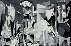 A obra de arte mais famosa pintada em cinza sobre o cinza (técnica crisalho) é o quadro Guernica (1937) de Pablo Picasso.