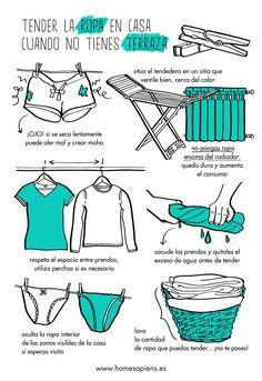 tender ropa en el interior