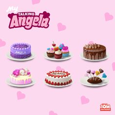 It may not be my birthday anymore, but I can't get enough of these cakes in #MyTalkingAngela! Gotta get 'em while I can! Follow the link in my bio for your own sweet treats! xo, Talking Angela #TalkingAngela #MyTalkingAngela #LittleKitties #appupdate #birthday #cakes #cake #limitedtimeonly #celebration