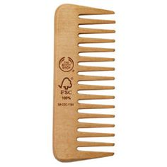 Seamless Wide-Toothed Wooden Comb