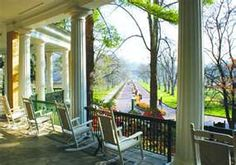 West Baden resort-sat on this porch this afternoon :)