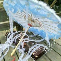 Cute Umbrellas, Traditional Japanese Kimono, Magical Jewelry, Kawaii Accessories, Artwork Images, Weapon Concept Art, Fantasy Jewelry, Kawaii Clothes, Hanfu