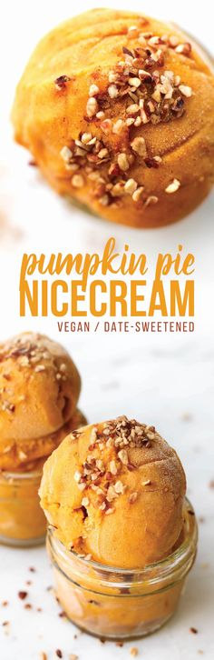 Pumpkin Banana Ice Cream is just like your favorite fall dessert but blended not baked, sweetened with dates not sugar, cold, sweet, and scoopable!