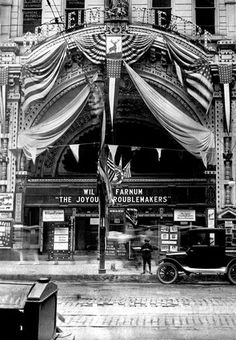 Chicago's Orpheum Theatre was built in 1907 and was one of the most popular vaudeville theaters in the Loop.