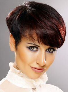 A classic Wedge hair cut with short back and sides and long top layers that fall naturally make the hair appear to be thicker and more structured in design.