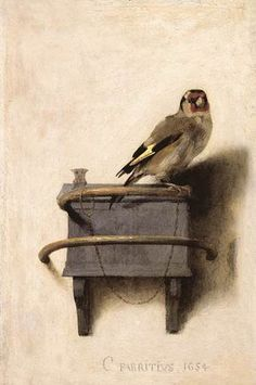 Carel Fabritius, The Goldfinch, 1654. Collection of the Mauritshuis.