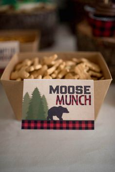 Moose munch snacks from a Lumberjack Birthday Party on Kara's Party Ideas | KarasPartyIdeas.com (17)