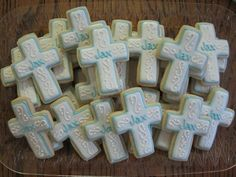55 Ideas Baby Boy Baptism Cookies First Communion Baby Boy Baptism, Boy Christening, Baptism Party, Baptism Ideas, Fondant Cookies, Iced Cookies, Sugar Cookies, Fancy Cookies, Valentine Cookies