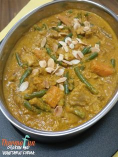 Chicken and Vegetable Korma Vegetable Korma Recipe, Vegetable Curry, Chicken Rice Recipes, Chicken Meal Prep, Cacciatore Recipes, Chicken And Vegetables, Curry Recipes, Food Hacks, Thermomix