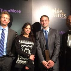 Paul Walker was honored for his humanitarian efforts by his brothers, Michelle Rodriguez and Tyrese Gibson at the Noble Awards.
