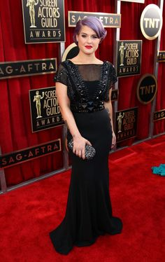 Kelly Osbourne arrives at the 19th Annual Screen Actors Guild Awards at the Shrine Auditorium in Los Angeles on Jan. 27, 2013.