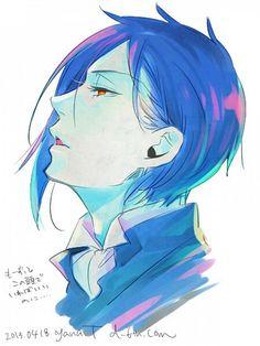 Sebastian Michaelis Black Butler. A blue version.