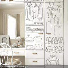 Ob es im bemalten Kleiderschrank genau so ordentlich aussieht wie die Bemalung verspricht