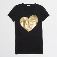 metallic heart tee / j.crew factory